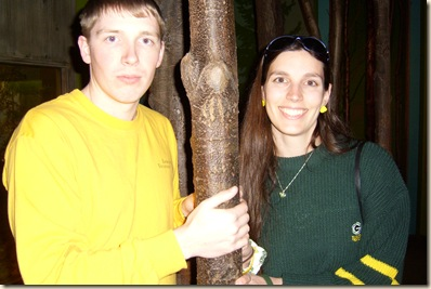 wendy and nathan by tree in museum
