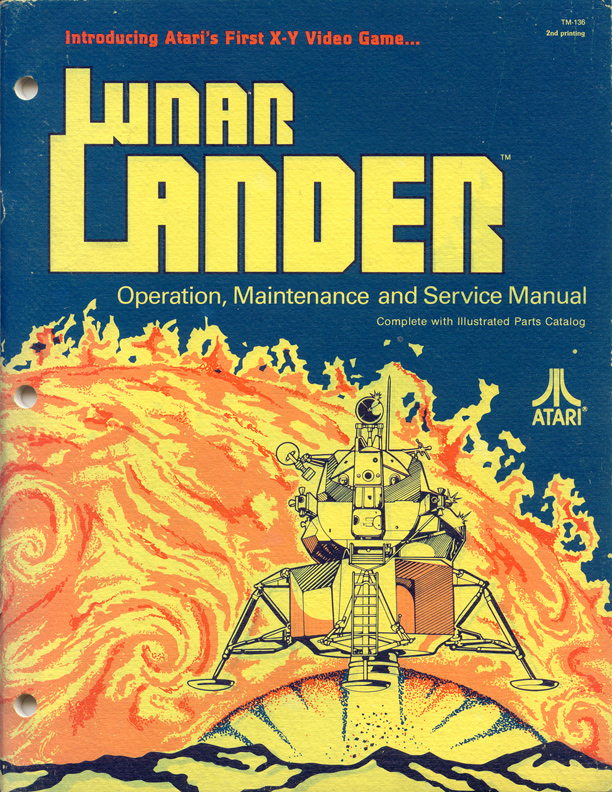Atari Arcade Manual Cover Art - Lunar Lander