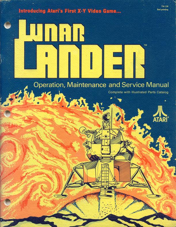 Atari Arcade Manual Cover Art - Lunar Lander
