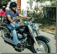 Dhoni Bike riding Pics