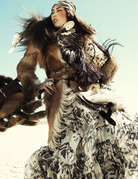 Liu Wen by Greg Kadel in Wild Dreams - Vogue Germany Nov 2010 - 6