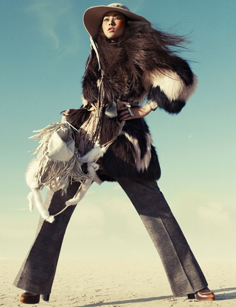 Liu Wen by Greg Kadel in Wild Dreams - Vogue Germany Nov 2010 - 7