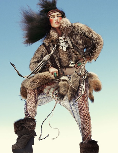 Liu Wen by Greg Kadel in Wild Dreams - Vogue Germany Nov 2010 - 11