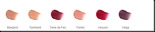 nRS PURE MATTE LIPSTICK COLOURS