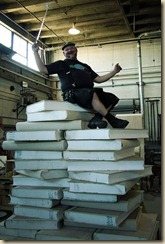 giant pile of books whoa