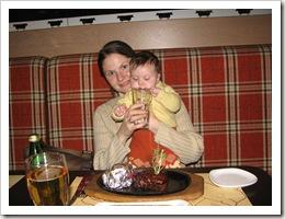 В ресторане Восток-Запад. 12.12.09