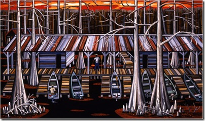 "David Bates's ""Lower End Boat Dock II""  (Photo: DC Moore Gallery, New York)"