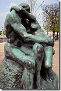 Rodin's Le Baiser (The Kiss) in the Tuileries Garden in Paris