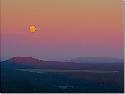 Full moon rise over Woody Mountain.