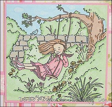 SSC #11 - springtime garden (close up)