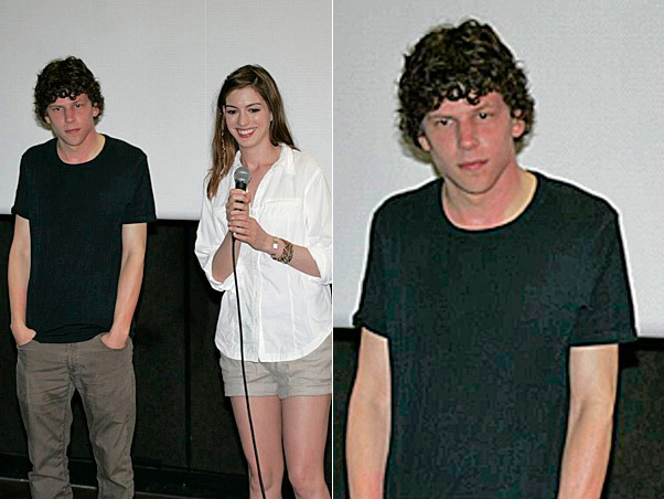 Jesse Eisenberg e Anne Hathaway