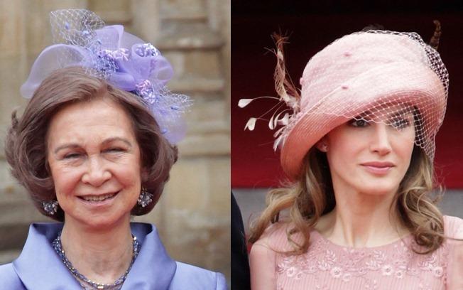 Rainha Sofia da Espanha e Princesa Letizia