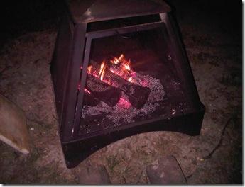 backyard campfire