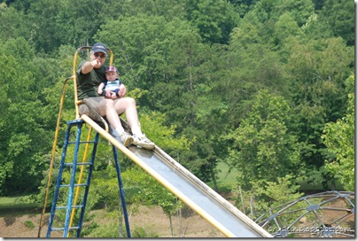 Mike and Dad on the slide