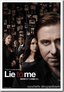 LIE TO ME season premiere Monday, Sept 28th [click to see a larger version of this and addional posters]