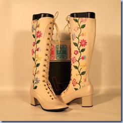 vintage floral go go boots