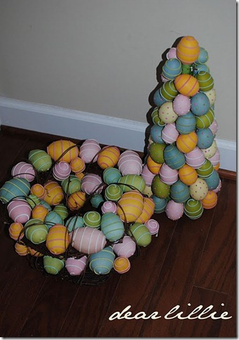 dear lillie colored egg topiary