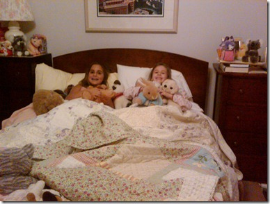 Sophia's first slumber party!