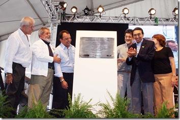 31-02-2008 - Início das obras do COMPERJ. Presidente Lula e o Governador Sérgio Cabral iniciaram simbolicamente as obras do Polo Petroquímico de Itaborai. Foto - Carlos Magno