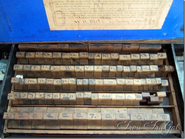 vintage sign maker kit