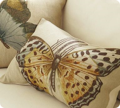 Pottery Barn Butterfly Pillow