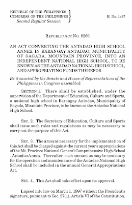 RA 8269: Antadao National High School