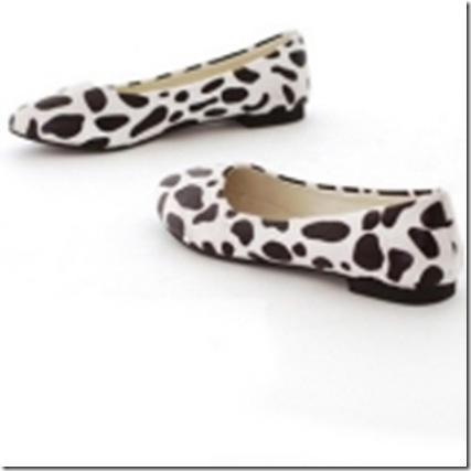Cute Cow Spots Flat Shoes