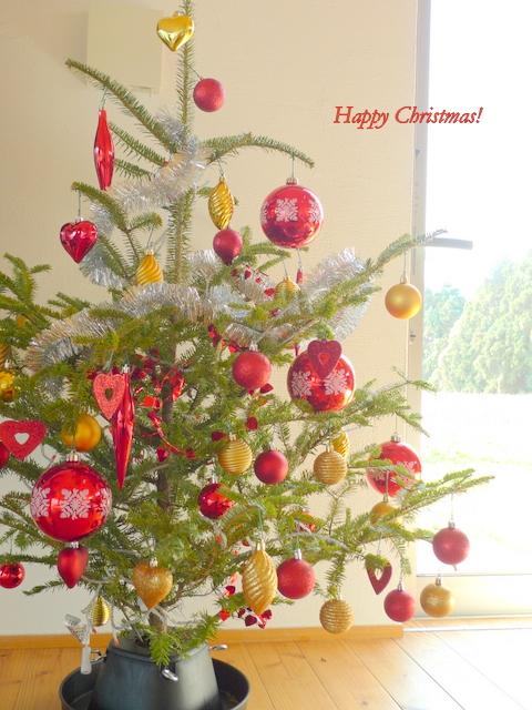 IKEAのもみの木でクリスマスツリー