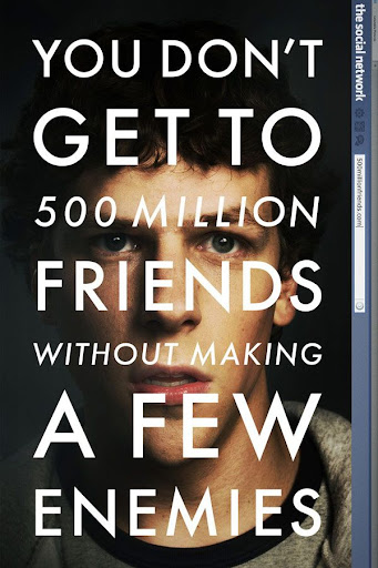 "Affiche du film ""The Social Network"", de David Fincher (2010)"