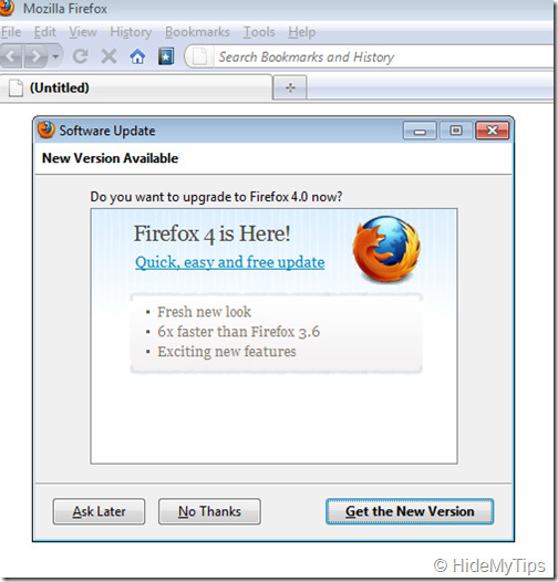 Get the New Version of Firefox 4