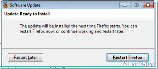 Firefox Update Ready to Install
