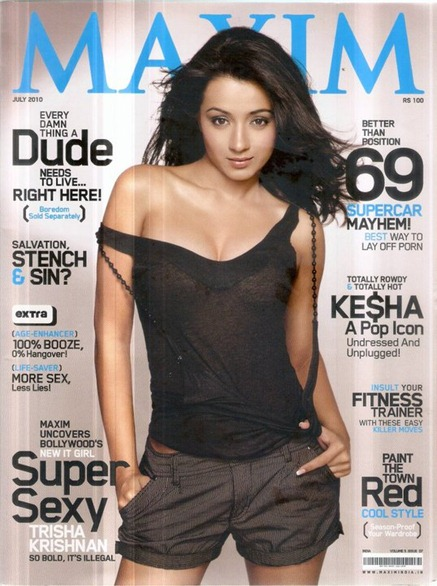 Trisha for Maxim India July 2010