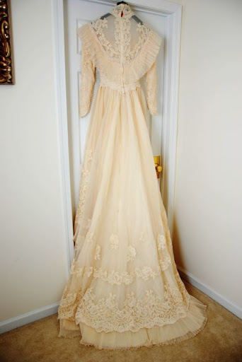Vintage Wedding Dress Find at Goodwill
