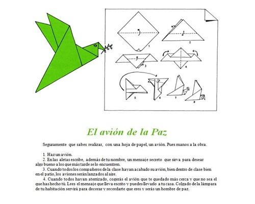 Papiroflexia para el día de la Paz: Paloma de la Paz | Jugar y ...