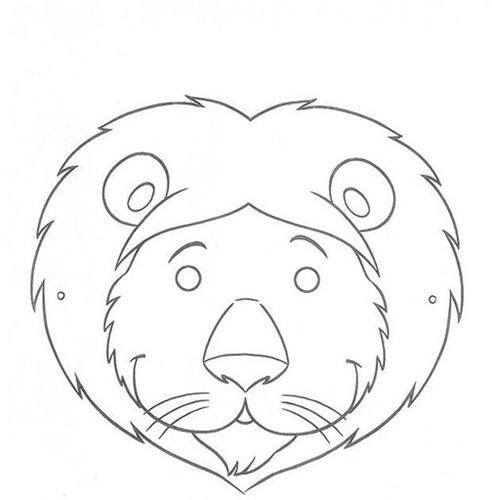 Máscaras para imprimir y colorear de animales