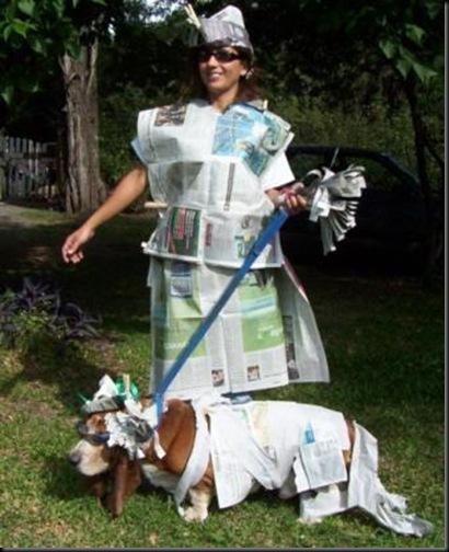 disfraz de peridodico