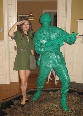 disfraz de soldado de plástico verde