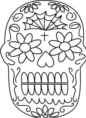 día de los muertos día de los muertos (3) Dibujos para colorear