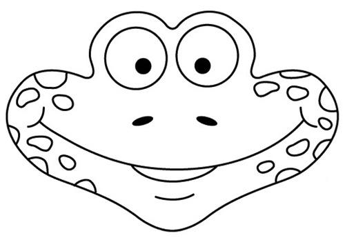Máscaras para imprimir y colorear de rana