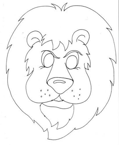 Máscaras para imprimir y colorear de leon