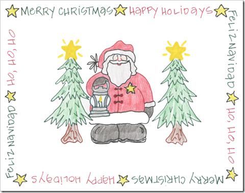 christmas santa trees