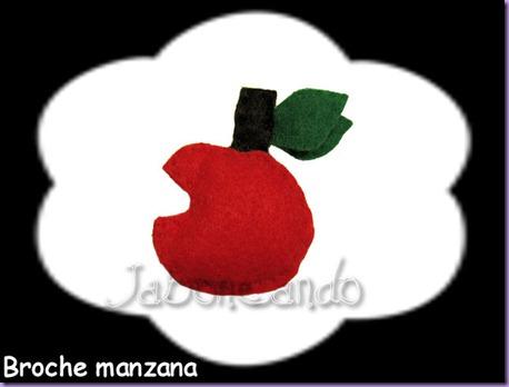 broche manzana