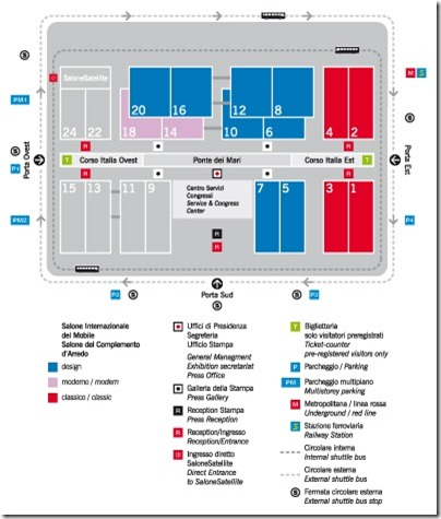 Salone 2011 floor plan