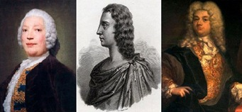Famous Castrati of the Eighteenth Century: [left to right] Giovanni Battista Andreoni, Cafferelli, and Senesino