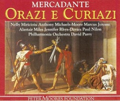 Cover of the Opera Rara recording of Mercadante's ORAZI E CURIAZI