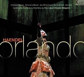 Händel's ORLANDO, HWV 31 (Dumaux, de la Merced, Nicholls, Fumas, Buet; Malgoire - K617 221/3)