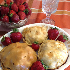 A Chaley's Pasty by Emily Samples - Food & Drink Cooking & Baking ( color food, food, strawberries, hd, baked food )