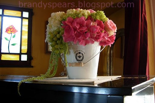 bridal baby shower centerpiece Photo Back view of the cluster floral