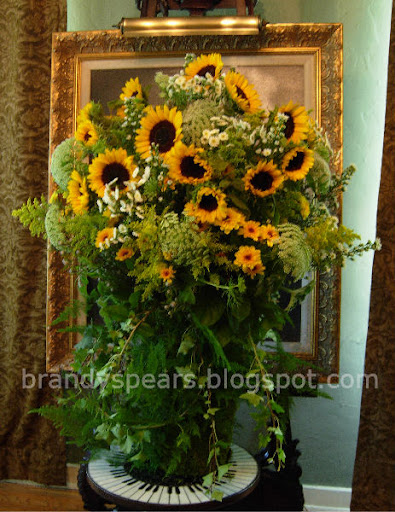 french style sunflower vase