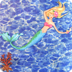 mermaid cork board